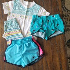 Wibbly Pig PJs. Nike shorts,  Okie Dokie shorts S4